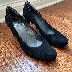 [Stuart Weitzman] Black Suede Heels - 7.5